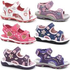 Girls Summer Sandals Infants Toddlers Tripple Walking Beach Shoes Size