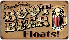 Vintage Retro Root Beer Float Metal Sign Cafe Shop Diner Restaurant Decor RPC