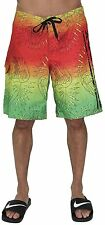 Ed Hardy  Board Shorts, Green Shorts have tie and Velcro closure Strings closure