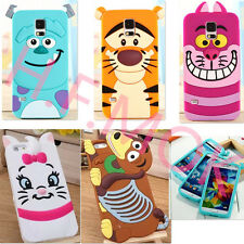 Cute3D Classic Cartoon Animal Series Silicone Back Cover Case for Various Mobile