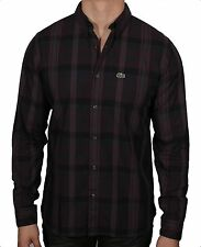 Lacoste L!Ve Men's Long Sleeve Plaid Woven Shirt 100% Cotton CH8929-51 CEB