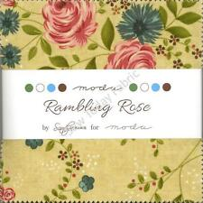 Rambling Rose Charm Pack by Moda, 42 5-inch Precut Cotton Fabric Squares 17790PP