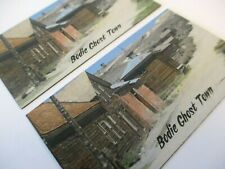 MAGNETS CALIFORNIA GOLD RUSH BODIE GHOST TOWN SOUVENIRS DOWNTOWN VIEW & CHURCH
