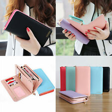 Women Fashion Leather Bifold Wallet Clutch Card Holders Purse Lady Long Handbag