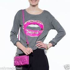 NWT Authentic Juicy Couture Embellished Graphic French Terry Sweatshirt - LIPS