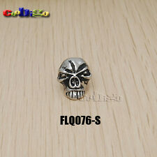 Charm Metal Skull Beads For Paracord Bracelet Knife Lanyards Jewelry Making