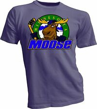 MINNESOTA MOOSE Defunct St. Paul MN IHL Hockey Team Retro Gray T-SHIRT NEW