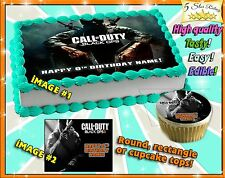 Call of Duty Advanced Warfare Birthday Cake topper Edible sugar cupcakes picture
