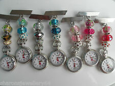 Nurses Charm Fob Watch Also For Beauticians, Healthcare Workers & Vets FREE POST