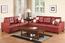 2 Pcs Sofa and Loveseat Couches Living Room Furniture Set Love Seat New