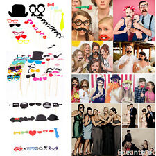 Funny DIY Photo Booth Mask Props Stick Mustache Wedding Birthday Christmas Party