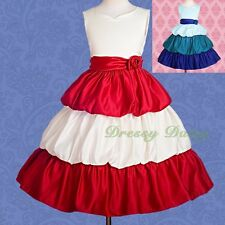 Flower Girl Flower Girl Dress Wedding Bridesmaid Party Size 4-11 #180