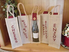 Jute Wine  Bottle Bag with Window  24  x  Occasions..