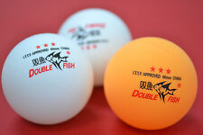 Double Fish ITTF approved 3star Table Tennis Balls, Orange or White, Melbourne