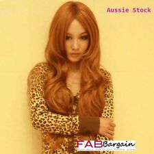 Long Fashion Women Curly Wavy Brown Hair Full Wigs Party Wig - zfcj