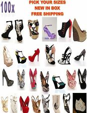 Women Shoes Mixed Lots Stiletto Pumps Heels Wedges No Box Wholesale New