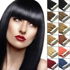 100% Indian Remy Human Hair Extensions Seamless Tape In Skin Weft 16Inch10-20pcs