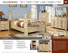 Waldenberg Master Bedroom Antique White Wrought Iron Los Angeles area only