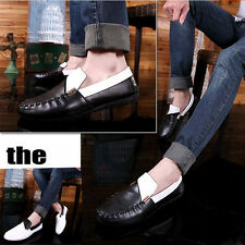Moccasins Casual Driving Loafers Men's Dress Formal Leather Slip Ons Shoes UK-L9