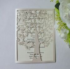 50sets-Personalized Ivory Tree and love birds Wedding Invitation Card ,Invites