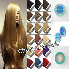 100% Remy Human Hair Extensions PU Seamless Tape In Grade AAAAAAA Hair 16-24Inch