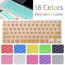 12 Colors Silicone Keyboard Cover Skin for Apple Macbook Pro MAC 13 15 17 Air 11