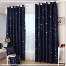 IKEA Style Dark Blue Gypsophila Blackout Curtain Customised Handmade Personalize