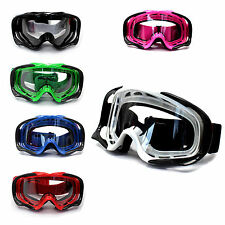 Clear Motocross Motorbike MX Goggles Dust UV protection ATV Quad bike Dune Buggy