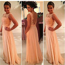 Lady Women Lace Prom Formal Evening Party Bridesmaid Wedding Long Maxi Dress