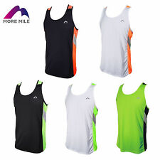 MORE MILE MENS TECH RUNNING SPORTS GYM TRAINING HOLIDAY VEST TOP S M L XL XXL
