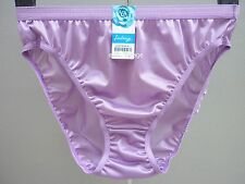 Vintage Purple Sissy Nylon Panties High Leg Briefs Knickers Lingerie Size M L XL