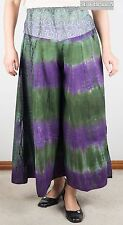 New Tie Dye Flared Cotton Multi-Coloured Pants (Gypsy Hippy/Boho) w SEWB