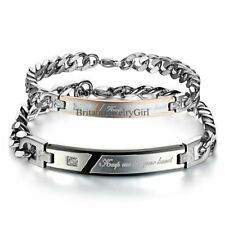 Keep Me In Your Heart Stainless Steel His and Hers Couple Bangle Bracelet Gift