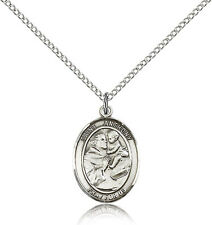 "Saint  Anthony of Padua Catholic Medal  Sterling Silver or Pewter 24""or18"" Chain"