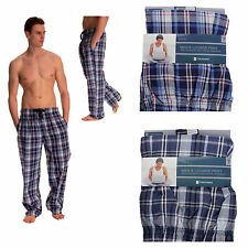 Mens Designer Pyjamas bottoms trousers cotton mix pjs lounge  pants Check S-XL