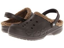 "New! Junior Crocs- ""Baya Lined"" Clogs in Espresso  EXTREME COMFORT!  D25"
