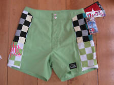 QUIKSILVER neo fly green swim shorts chequered 28 NEW