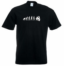 Mens evolution t shirt ape to man evolution vespa evolution t shirt