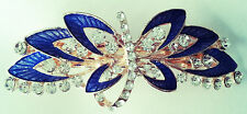 Hair Accessory Hair Barrette with Dragonfly Design in rhinestones