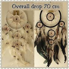 Dream catcher  soft leather bound 70cm overall drop DCAP12