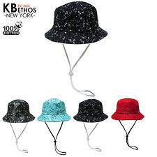 Cookie N Cream With String Bucket Hat Fishing Outdoor Cap Unisex 100%Cotton NEW