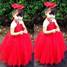 Girl kids Pageant Dress Bridesmaid Prom Party Princess Ball Gown Formal Dress