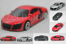 1:64 RMZ City Diecast AUDI R8 V10 Car Red Silver Metallic Black / Red Model New