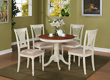 5 Piece kitchen table set-small kitchen table and 4 chairs for dining room
