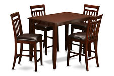 5 Pc Counter height dining set-Table and 4 dining room chairs