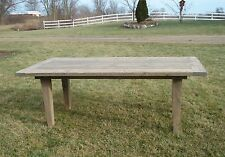 Amish Rustic Plank Farmhouse Dining Table Barn Wood Country Kitchen Furniture