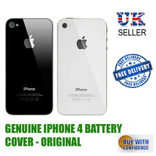 GENUINE GLASS REPLACEMENT BACK BATTERY COVER FOR APPLE IPHONE 4 - ORIGINAL