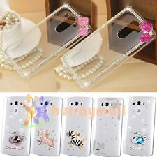 Fashion Bling Gem Crystal Diamond Hard Case Clear Cover For LG Optimus G2 G3