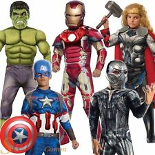 Boys Avengers Fancy Dress Costume Deluxe Marvel Age Of Ultron Superhero Outfit