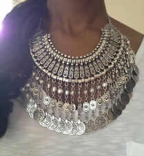 Ethnic Tribal Boho Coin Necklace Belly Dance Bohemian Festival Gypsy Jewelry Hot